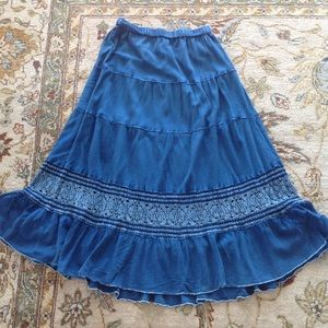 STUDIO WEST DENIM BLUE WESTERN STYLE SKIRT